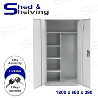 Picture of Metal Janitor Cabinets - Light Grey